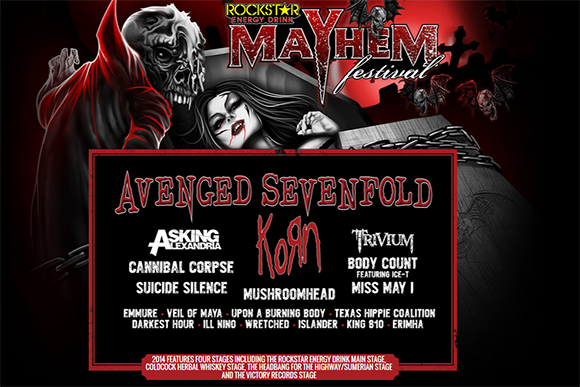 Rockstar Energy Mayhem Festival at DTE Energy Music Theatre