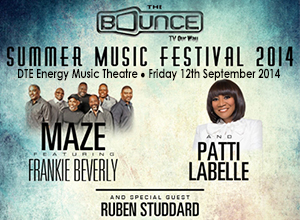 Bounce TV Summer Music Festival: Maze, Frankie Beverly & Patti LaBelle at DTE Energy Music Theatre