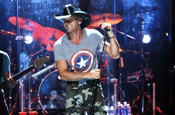 Tim McGraw, Billy Currington & Chase Bryant at DTE Energy Music Theatre