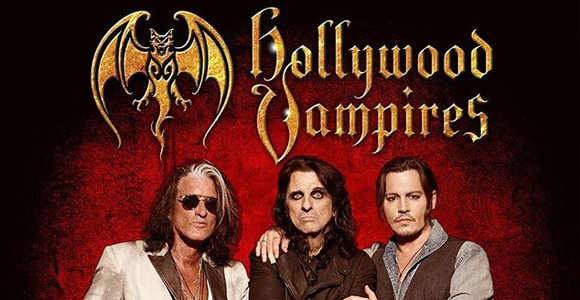 The Hollywood Vampires - Alice Cooper, Johnny Depp & Joe Perry at DTE Energy Music Theatre