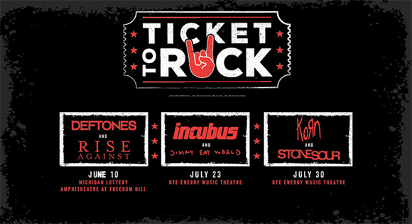 2017 Ticket to Rock (Includes All Performances at DTE Energy Music Theatre & Michigan Lottery Amphitheatre) at DTE Energy Music Theatre