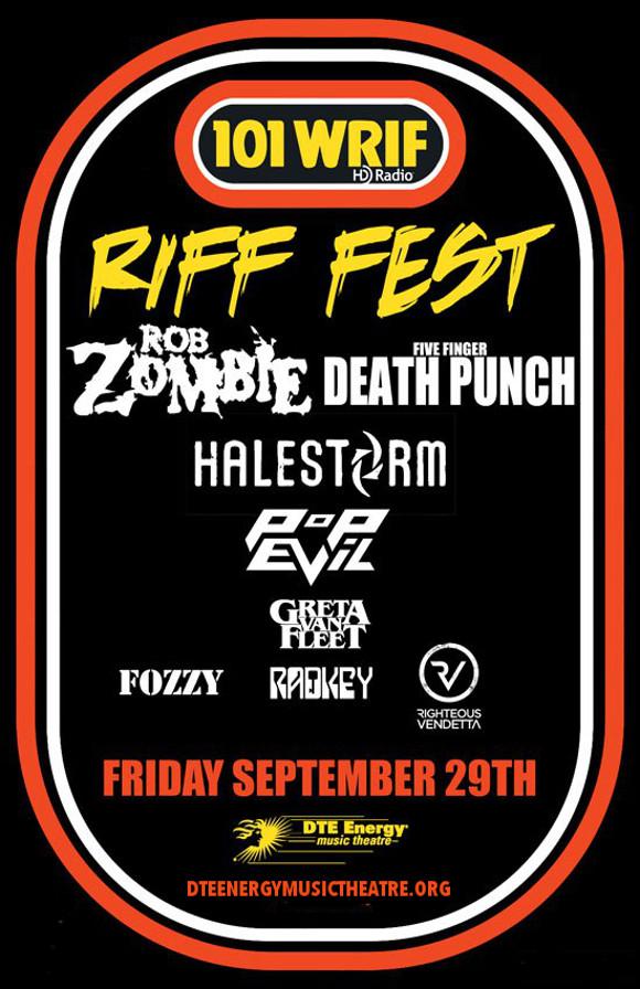 Riff Fest: Rob Zombie, Five Finger Death Punch & Halestorm at DTE Energy Music Theatre