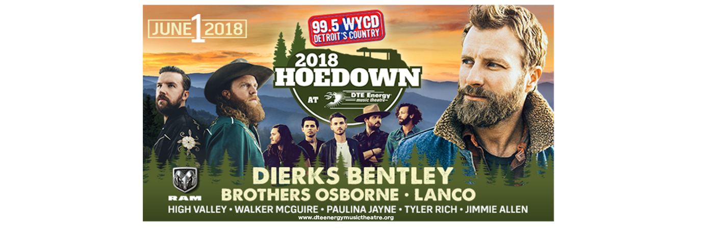 99.5 WYCD Hoedown: Dierks Bentley, Brothers Osborne & LANCO at DTE Energy Music Theatre