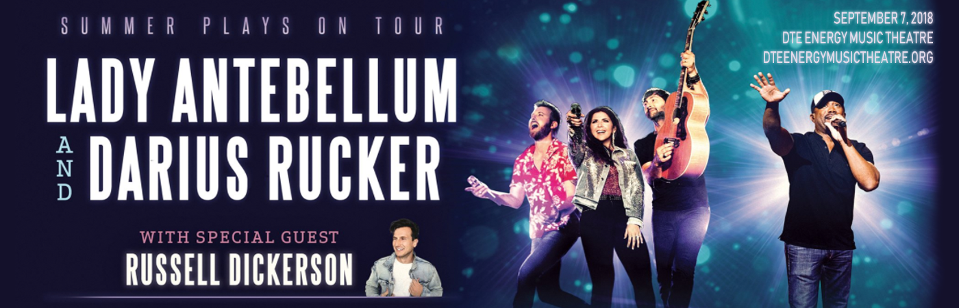 Lady Antebellum, Darius Rucker & Russell Dickerson at DTE Energy Music Theatre