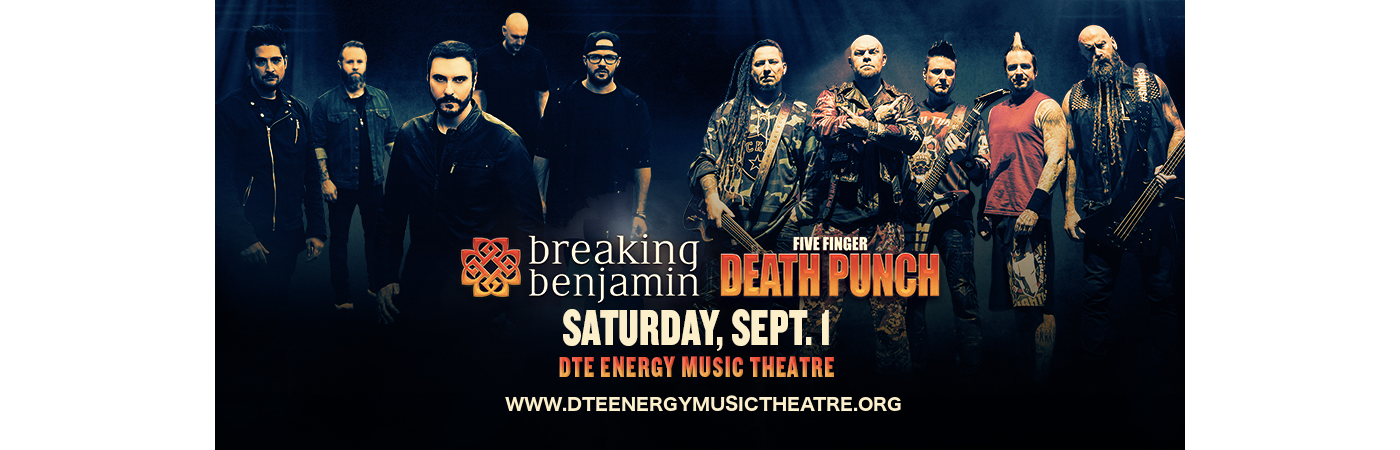 Five Finger Death Punch & Breaking Benjamin at DTE Energy Music Theatre