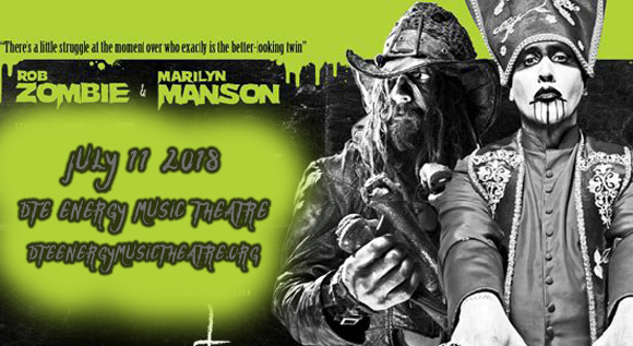 Rob Zombie & Marilyn Manson at DTE Energy Music Theatre