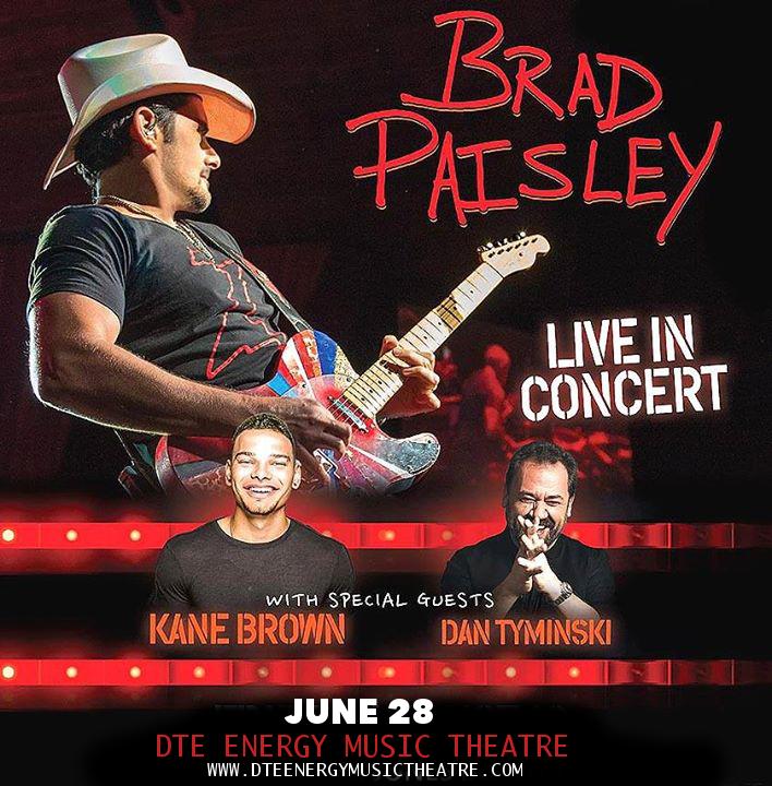 Brad Paisley, Dan Tyminski & Kane Brown at DTE Energy Music Theatre
