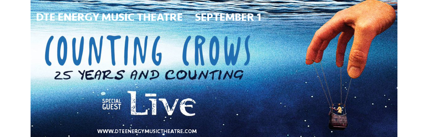 Counting Crows & Live - Band at DTE Energy Music Theatre