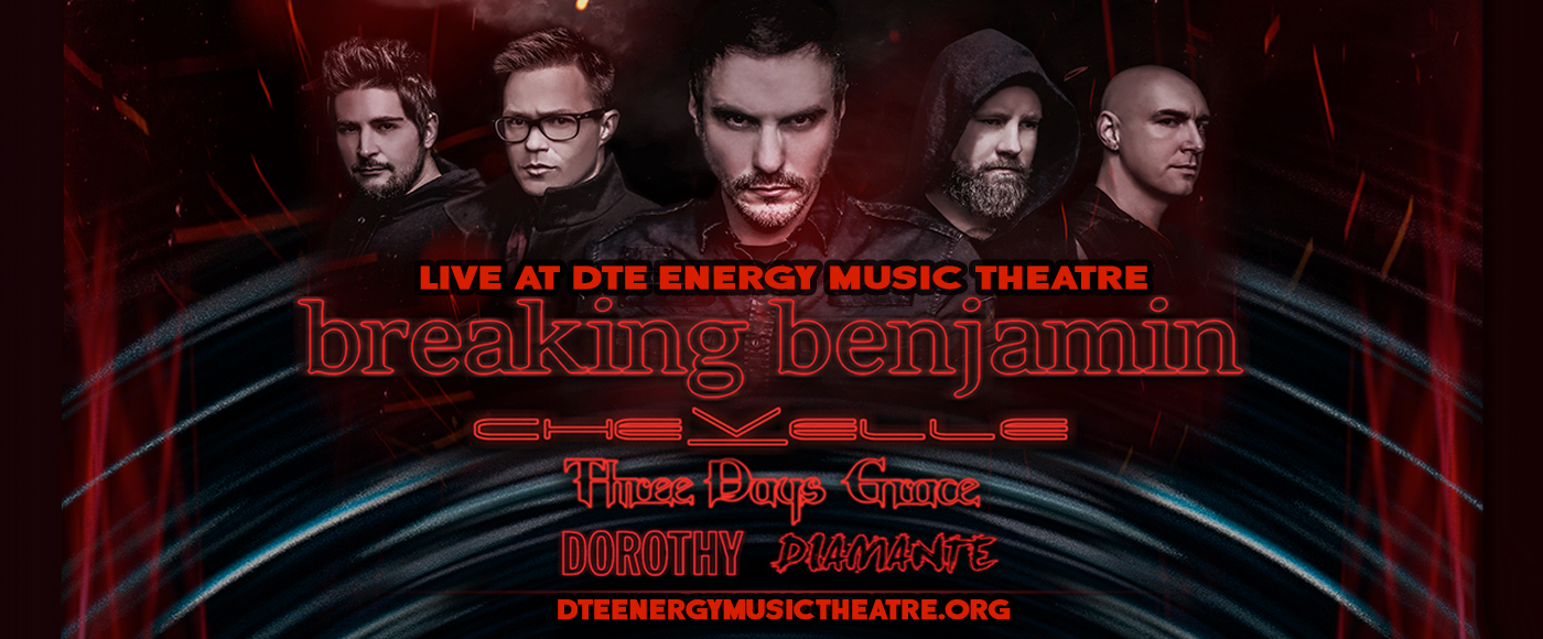 Breaking Benjamin at DTE Energy Music Theatre