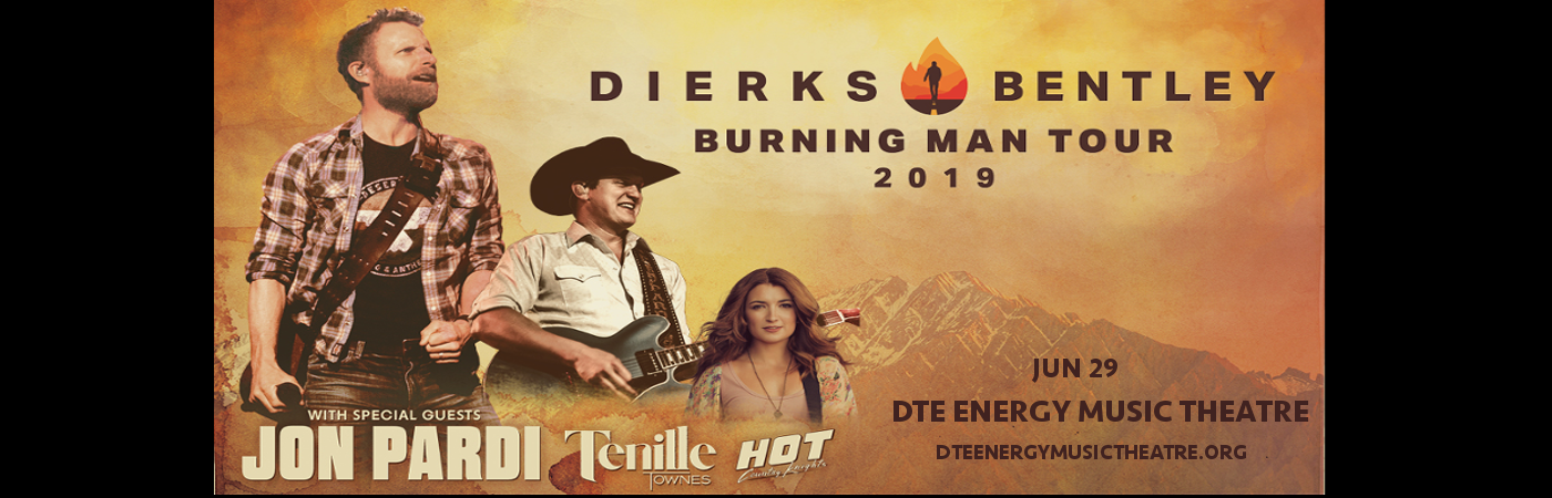Dierks Bentley, Jon Pardi & Tenille Townes at DTE Energy Music Theatre