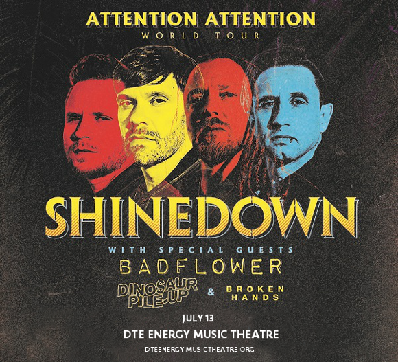 Shinedown at DTE Energy Music Theatre