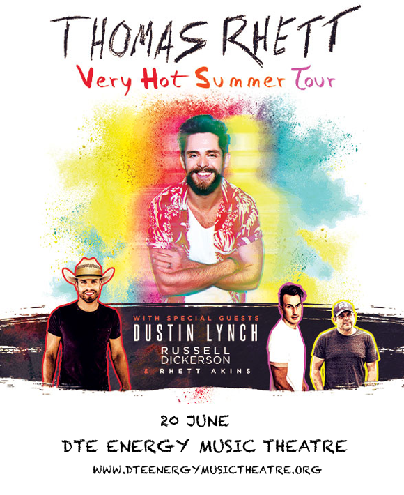 Thomas Rhett, Dustin Lynch & Russell Dickerson at DTE Energy Music Theatre