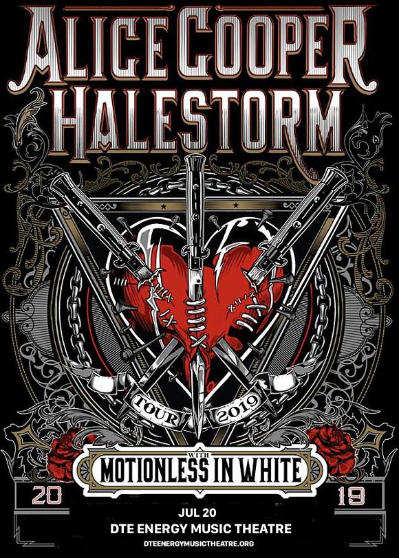 Alice Cooper & Halestorm at DTE Energy Music Theatre