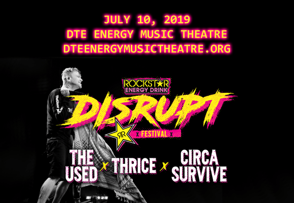 Disrupt Festival: The Used, Thrice, Circa Survive, Sum 41 & Atreyu at DTE Energy Music Theatre