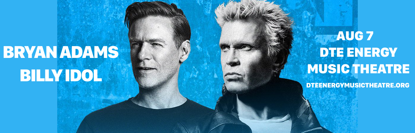 Bryan Adams & Billy Idol at DTE Energy Music Theatre