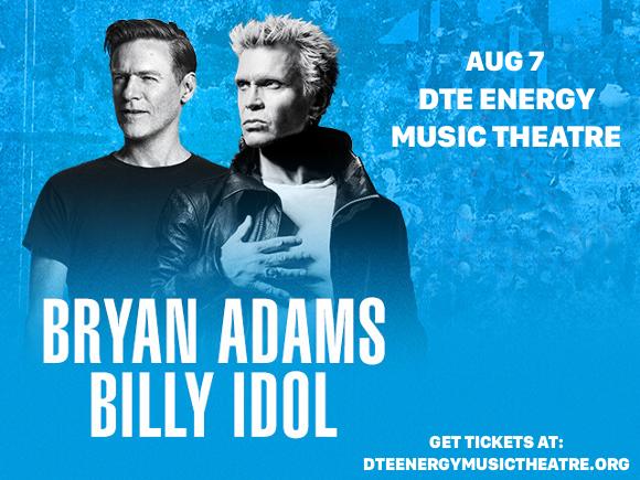 Bryan Adams & Billy Idol at DTE Energy Music Theatre