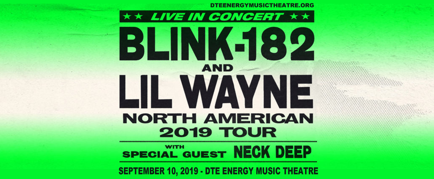 Blink 182 & Lil Wayne at DTE Energy Music Theatre