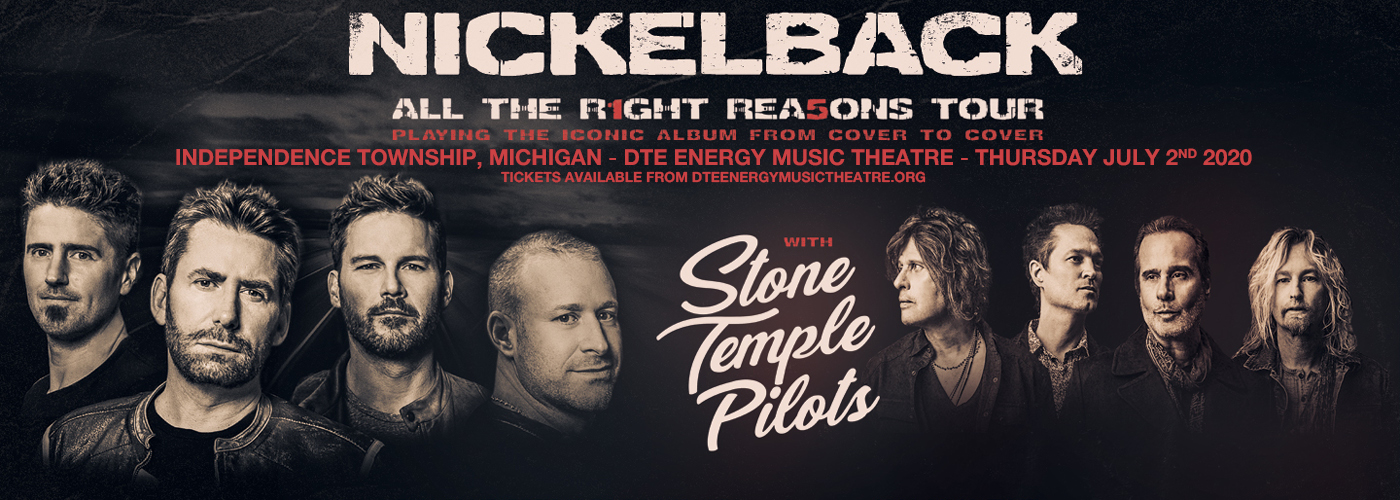 Nickelback, Stone Temple Pilots & Tyler Bryant and The Shakedown at DTE Energy Music Theatre