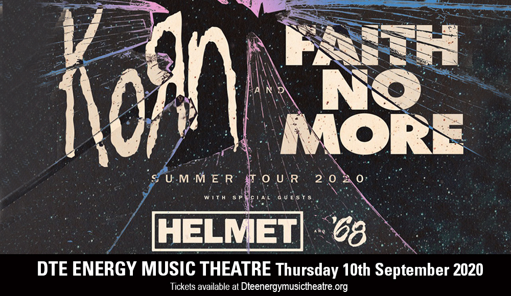 Korn, Faith No More, Helmet & '68 at DTE Energy Music Theatre