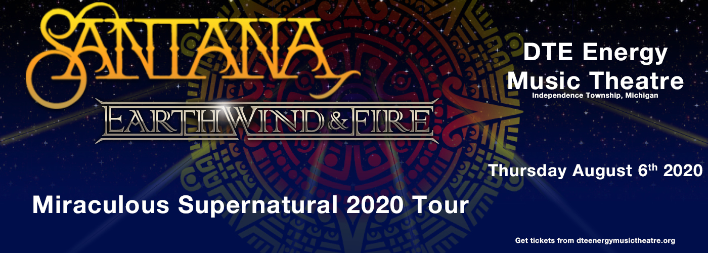 Santana & Earth, Wind and Fire at DTE Energy Music Theatre