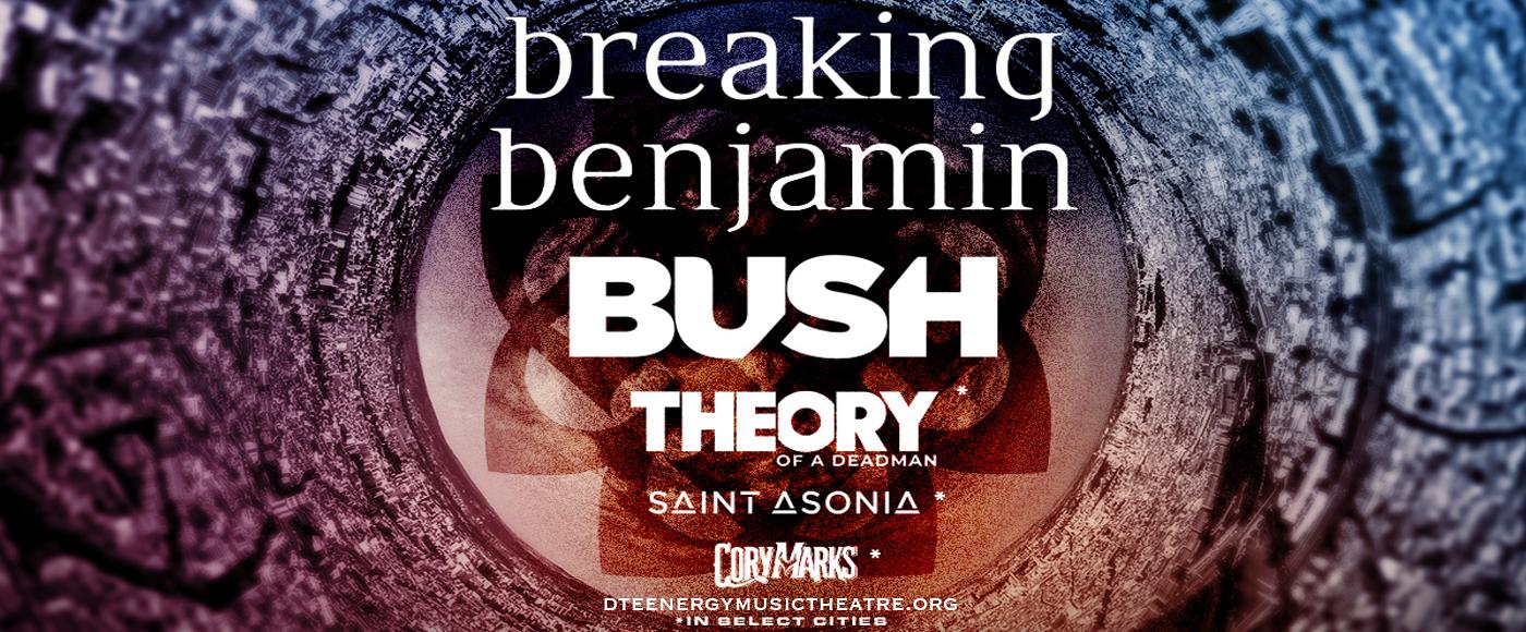 Breaking Benjamin & Bush at DTE Energy Music Theatre