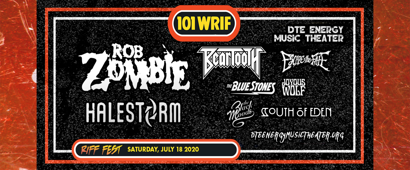 Riff Fest: Rob Zombie, Halestorm, Beartooth & The Blue Stones at DTE Energy Music Theatre