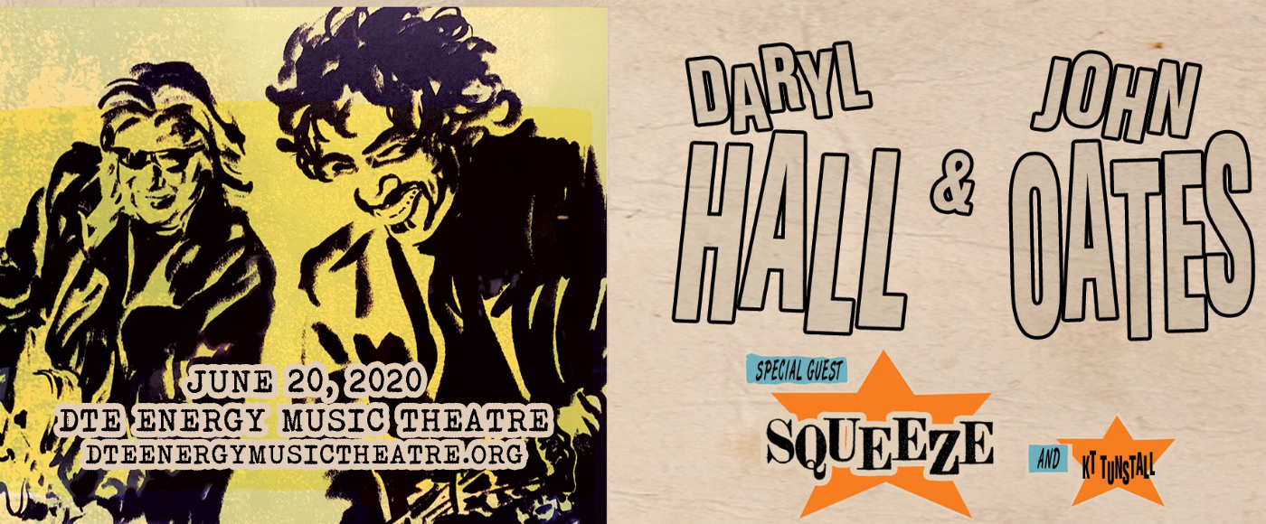 Hall and Oates, KT Tunstall & Squeeze [POSTPONED] at DTE Energy Music Theatre