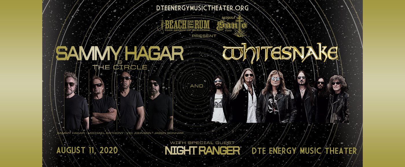Sammy Hagar and the Circle & Whitesnake [CANCELLED] at DTE Energy Music Theatre