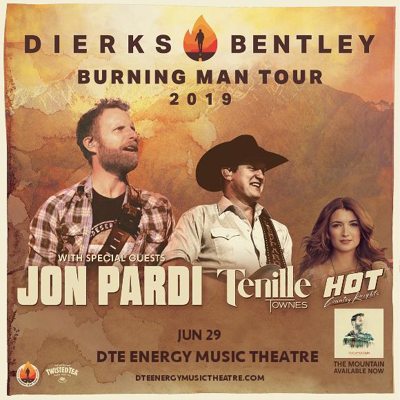 Dierks Bentley, Jon Pardi & Tenille Townes at DTE Energy Music Theatre