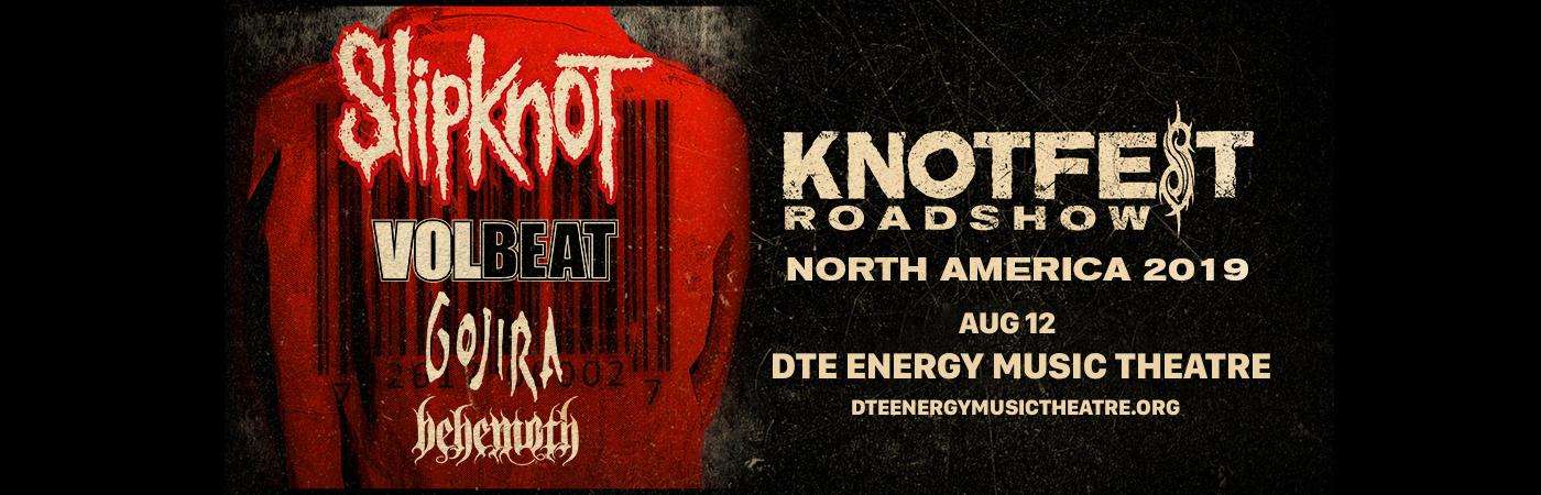Slipknot, Volbeat, Gojira & Behemoth at DTE Energy Music Theatre