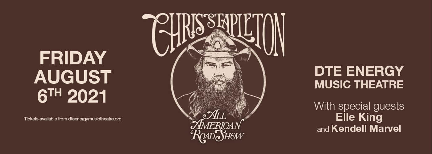 Chris Stapleton, with Elle King and Kendell Marvel at DTE Energy Music Theatre